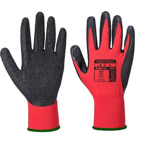 Flex Grip latex kesztyű, piros/fekete