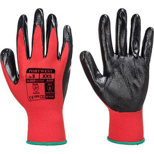 Flexo Grip nitril kesztyű (kisker kiszerelés), piros/fekete