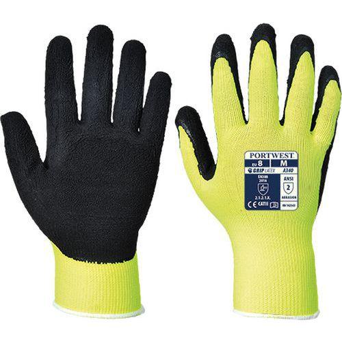 Hi-Vis Grip védőkesztyű Latex, sárga