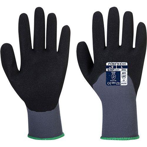 DermiFlex Ultra védőkesztyű, szürke/fekete