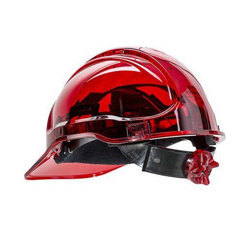 Peak View Plus gyorsbeállítós védősisak, piros