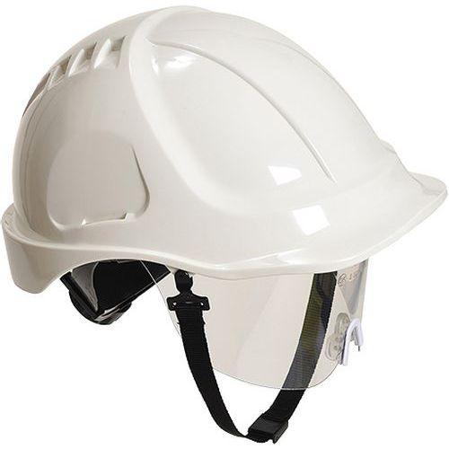 Endurance Plus védősisak védőszemüveggel, fehér