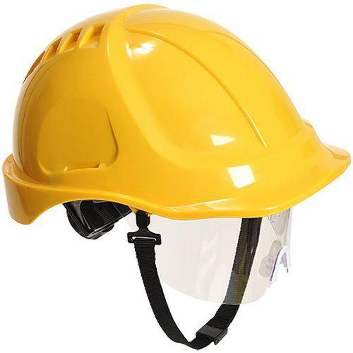 Endurance Plus védősisak védőszemüveggel, sárga