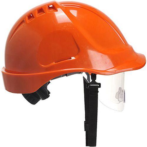 Endurance védősisak védőszemüveggel, narancssárga