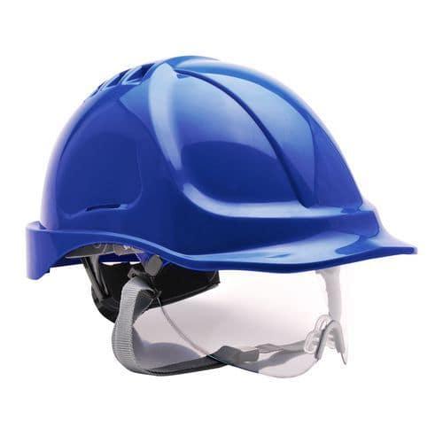 Endurance védősisak védőszemüveggel, világoskék