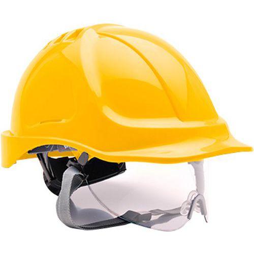 Endurance védősisak védőszemüveggel, sárga