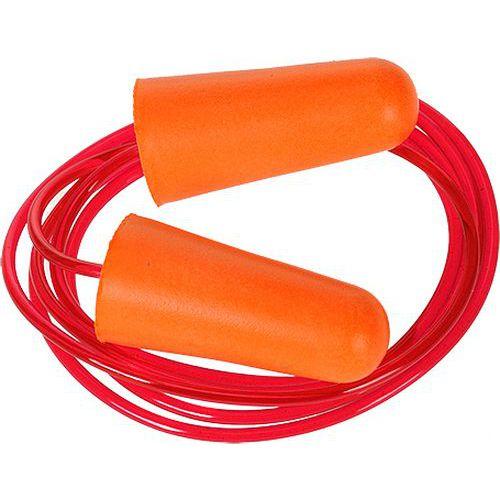 Zsinóros PU hab füldugó (200 pár), narancssárga