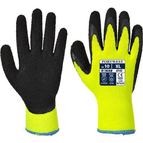 Thermal Soft Grip kesztyű, fekete/sárga