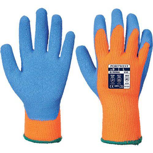 Hűtőházi kesztyű, kék/narancssárga