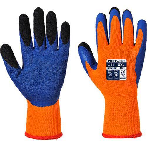 Duo-Therm kesztyű, kék/narancssárga