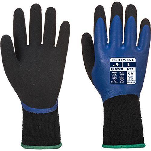 Thermo Pro kesztyű, fekete/kék