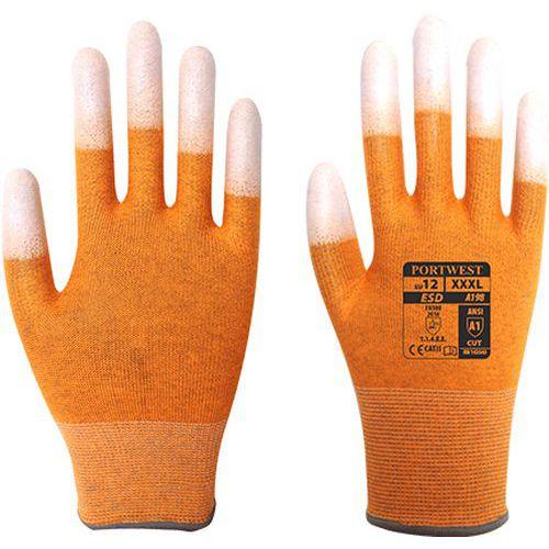 ESD ujjvég mártott védőkesztyű, narancssárga