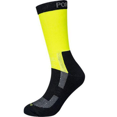 Könnyű jól láthatósági zokni, sárga