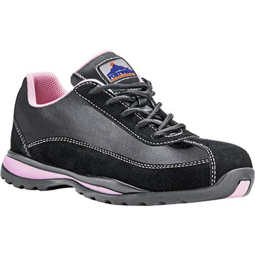 Steelite női védőcipő S1P, fekete,rózsaszín