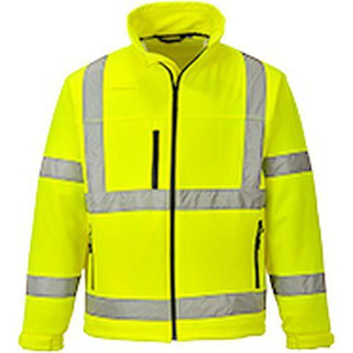 Jól láthatósági Softshell dzseki (3L), sárga