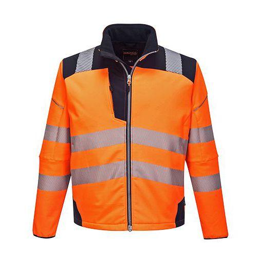PW3 Hi-Vis Softshell kabát, kék/narancssárga