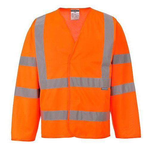 Jól láthatósági dzseki (ujjas mellény), narancssárga