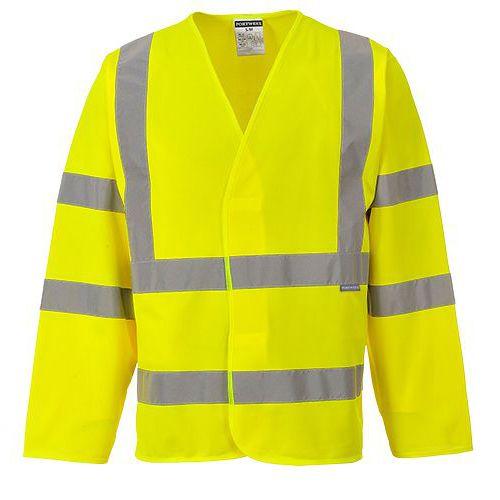 Jól láthatósági dzseki (ujjas mellény), sárga