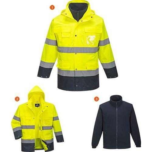 Hi-Vis Lite 3 az 1-ben kabát, kék/sárga