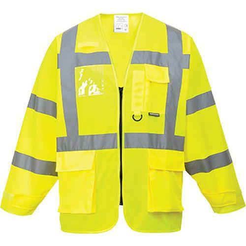 Jól láthatósági Executive dzseki, sárga