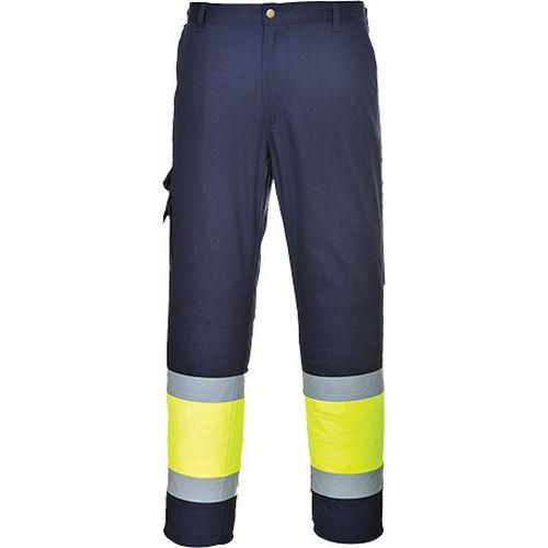 Jól láthatósági kéttónusú nadrág, kék/sárga