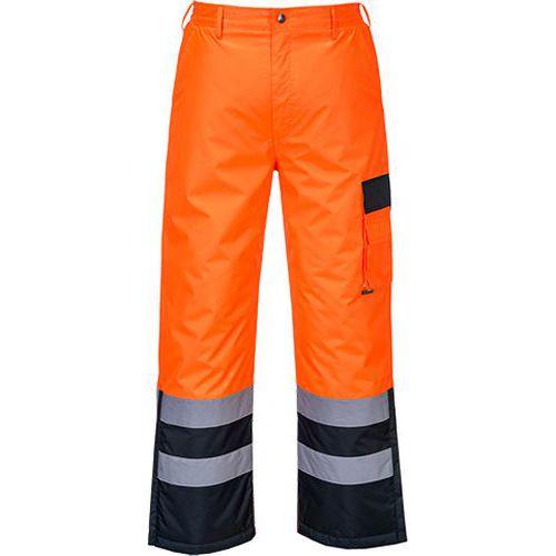 Hi-Vis Contrast nadrág bélelt, kék/narancssárga