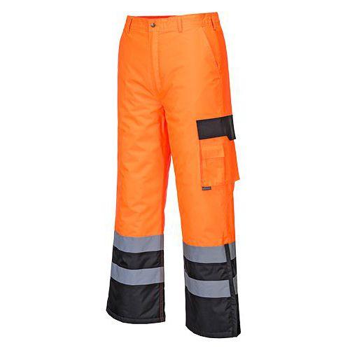 Hi-Vis Contrast nadrág bélelt, fekete/narancssárga