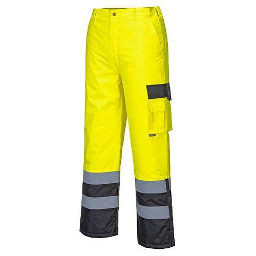 Hi-Vis Contrast nadrág bélelt, fekete/sárga
