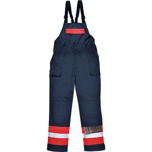 Bizflame Plus kantáros nadrág, kék