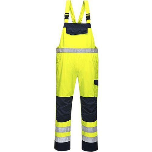 Hi-Vis Modaflame kantáros nadrág, kék/sárga