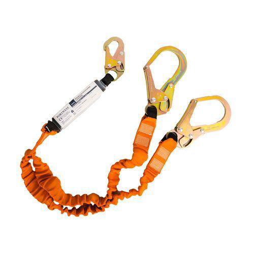 Dupla 140kg-os energiaelnyelős kötél, fekete/narancssárga