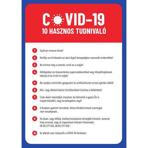 A vírusfertőzéssel szembeni védelem tízparancsolata, műanyag, 297 x 210 x 0,5 mm, A4