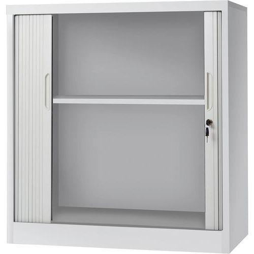 Manutan fém irattartó szekrény redőnnyel, 95 x 90 x 45 cm