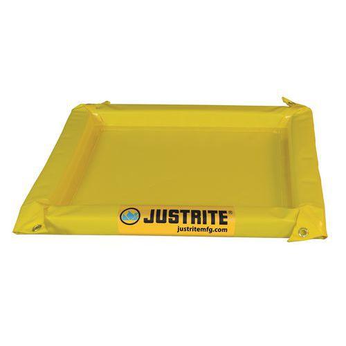 Alacsony kármentő tartály Justrite, sárga, magassága 5,1 cm, 19 - 167 l