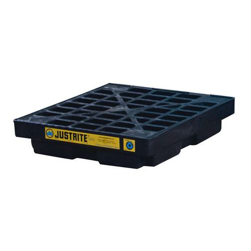 Moduláris műanyag kármentő tálca Justrite, 45 - 276 l