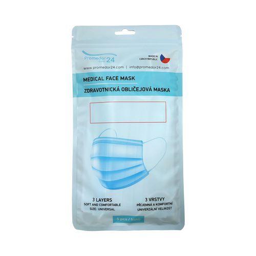 Medi egyszer használatos sebészmaszk, típus IIR, 5 db