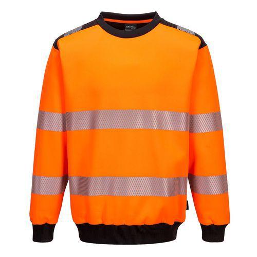 PW3 Hi-Vis Crew Neck pulóver, fekete/narancssárga