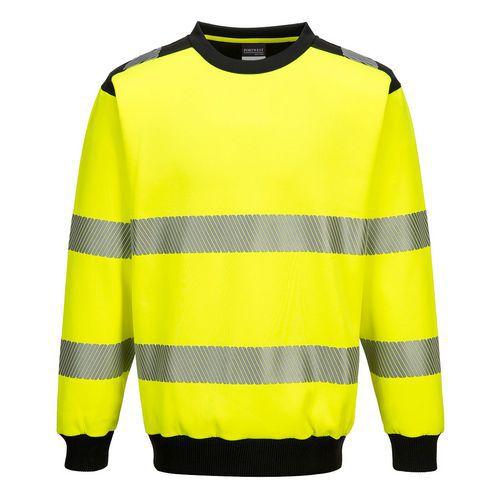 PW3 Hi-Vis Crew Neck pulóver, fekete/sárga