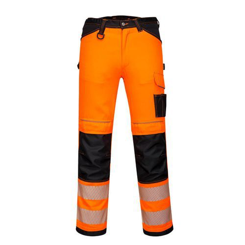 PW3 Hi-Vis Stretch Work női nadrág, fekete/narancssárga