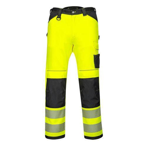 PW3 Hi-Vis Stretch Work női nadrág, fekete/sárga