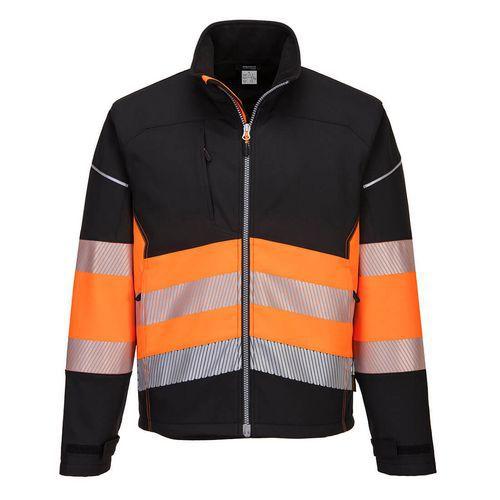 PW3 Hi-Vis Class 1 Softshell kabát, fekete/narancssárga