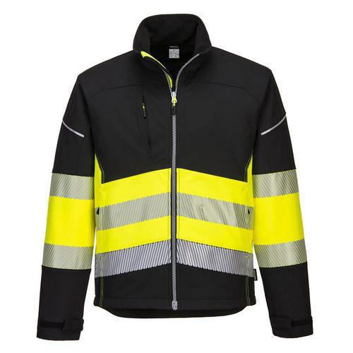 PW3 Hi-Vis Class 1 Softshell kabát, fekete/sárga