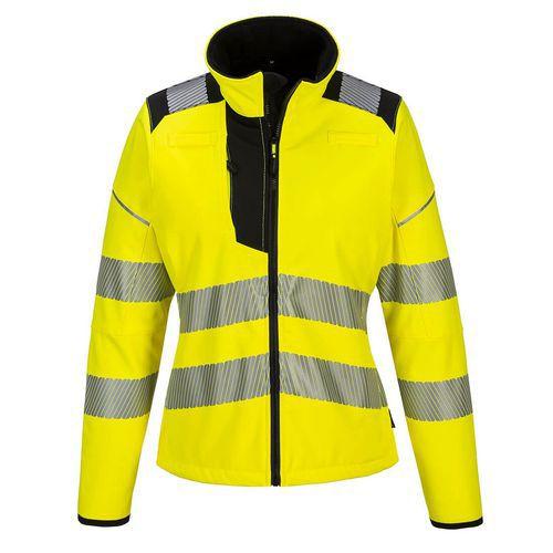PW3 Hi-Vis női softshell, fekete/sárga
