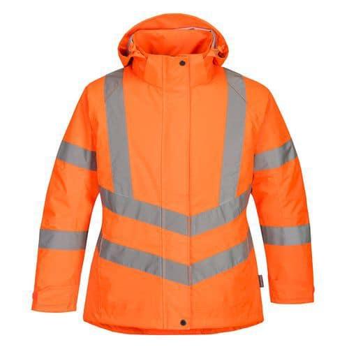 Női jól láthatósági téli kabát, narancssárga